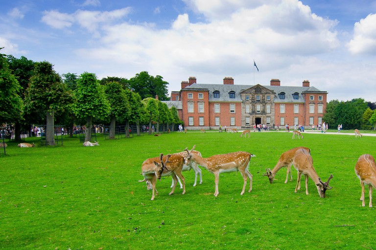 Dunham Massey Park,  formerly the home of the last Earl of Stamford and owned by the National Trust since 1976