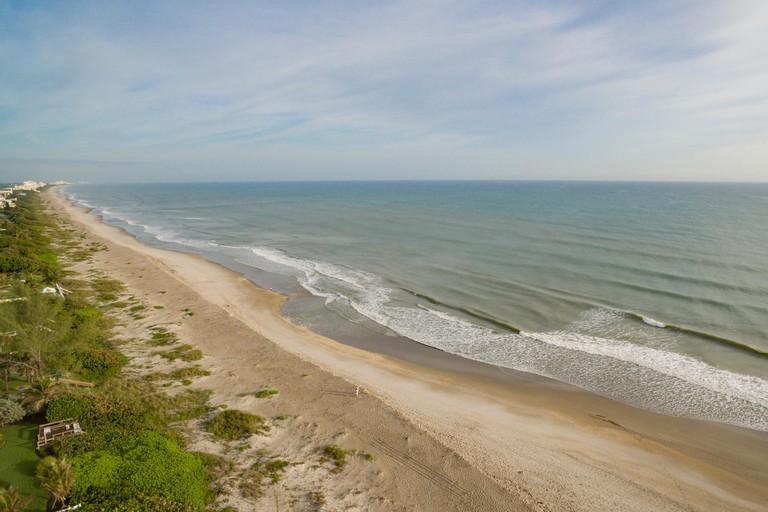aerial view of Melbourne Beach, Florida