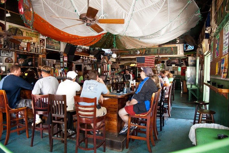 Interior of the Green Parrot Bar in Key West, Florida, USA