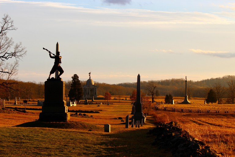 Angle looking south, Gettysburg