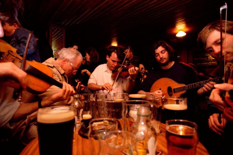 Maddens Bar Musicians in Maddens Bar Belfast Northern Ireland