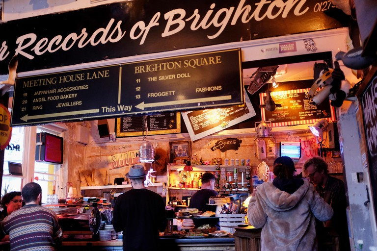 Marwood Coffee Shop in The Lanes area of Brighton UK