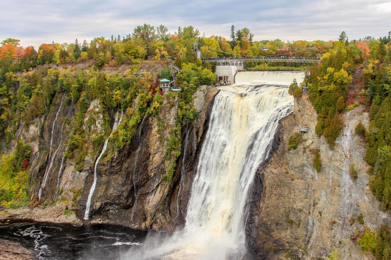 Montmorency Falls in Autumn