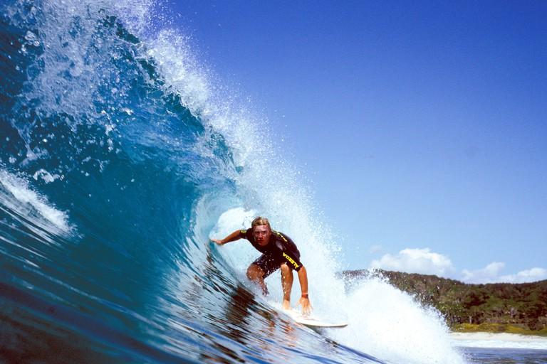 Harve Ferguson surfing at Broken Head