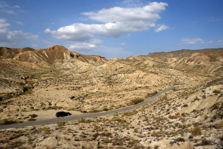 The desert landscape of Tabernas, Andalucia, Spain