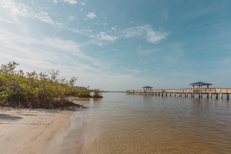 New Smyrna Dunes Park.  A park consisting of a fishing pier and beaches.