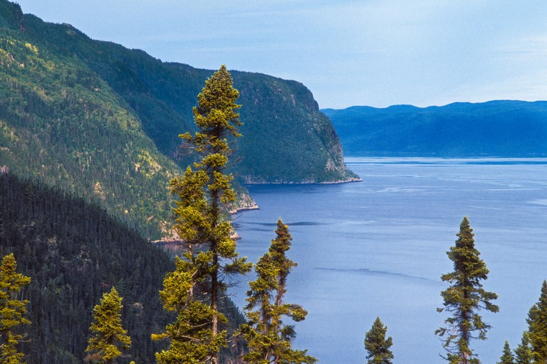 The Saguenay Fjord forms part of Saguenay-St. Lawrence Marine Park in Quebec, Canada.