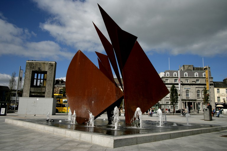 Galway Hooker Sculpture Eyre Square Galway Ireland. Image shot 2006. Exact date unknown.