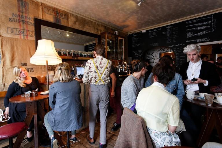 United Kingdom Scotland Edinburgh listed as World Heritage by UNESCO Artisan Roast cafe