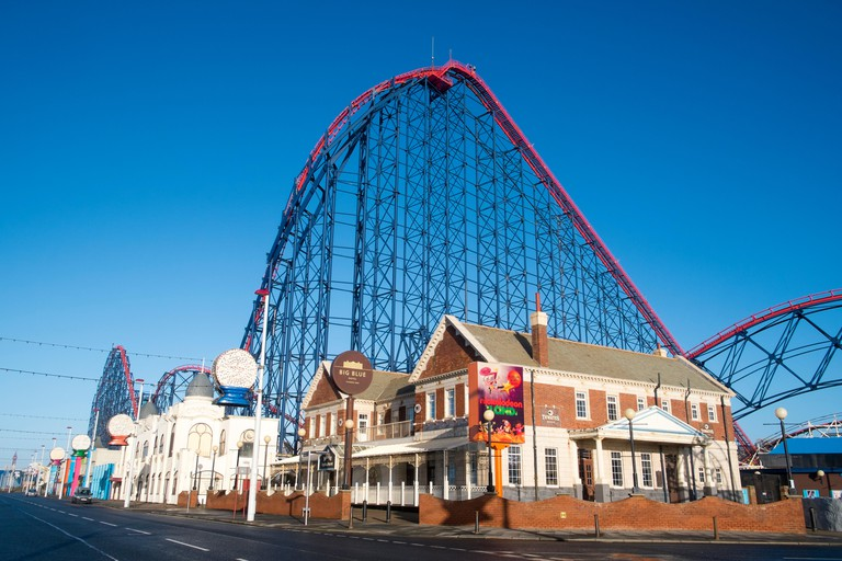 big dipper big one thrill ride at Blackpool pleasure beach holiday resort, lancashire,england