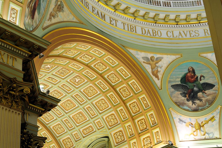 Ceiling Detail Of The Cathedral-Basilica of Mary, Queen of the World Montreal Canada Marie Reine du Monde
