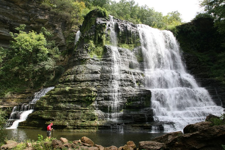 BURGESS FALLS IN TENNESSEE USA. Image shot 2008. Exact date unknown.