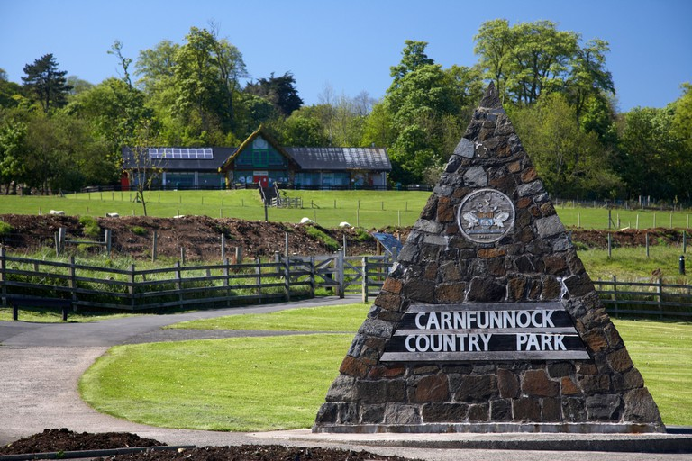 entrance to carnfunnock country park on the antrim coast road county antrim northern ireland uk