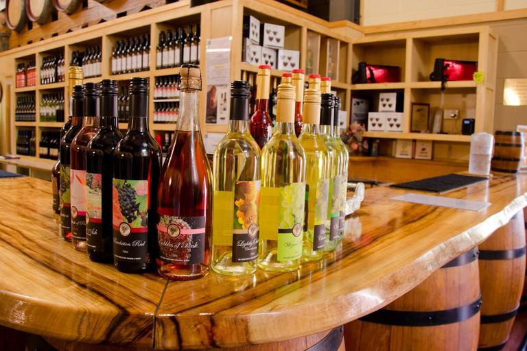 Australia, Queensland, Mount Tamborine. Cedar Creek Estate & Winery, showroom and wine tasting.
