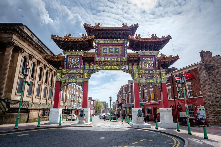 China Town gate in Liverpool, England.
