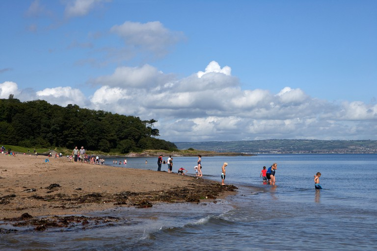 Crawfordsburn beach now part of crawfordsburn country park in north county down northern ireland uk