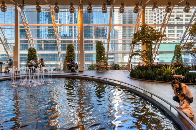 Devonian Gardens, indoor park at Core Shopping Centre in downtown Calgary, Alberta, Canada