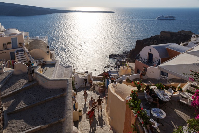 Village of Ia (Oia) on Santorini,