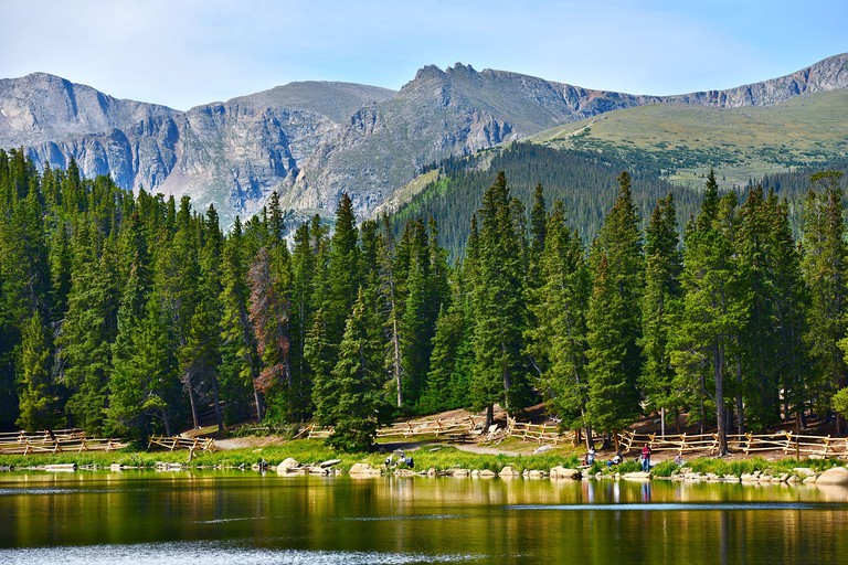 Colorado Echo Lake and Rocky Mountains. Colorado Scenery, USA.