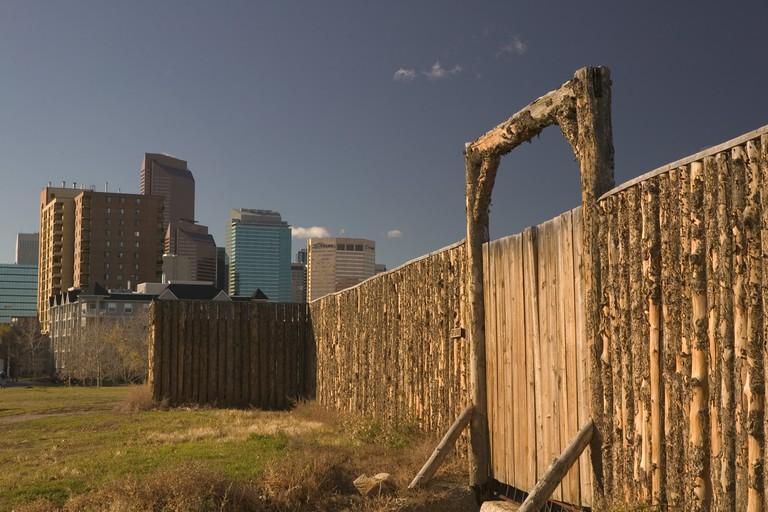 Canada, Alberta, Calgary: Fort Calgary Historic Park, Exterior Stockade