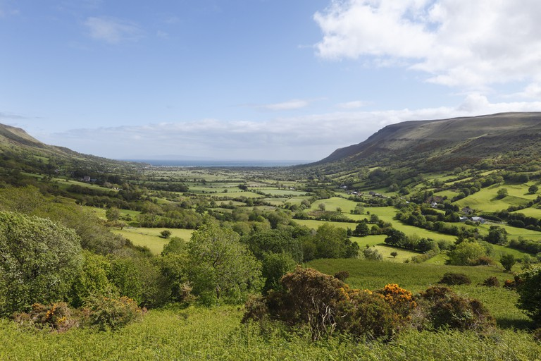 Glenariff valley, Glens of Antrim, County Antrim, Northern Ireland