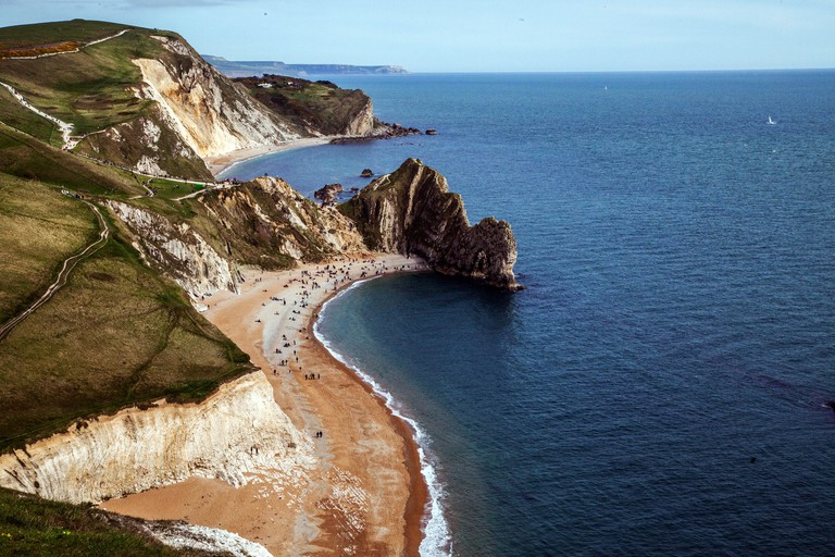 The magificant Jurassic Coast World Heritage Site is part of Dorset, UK.