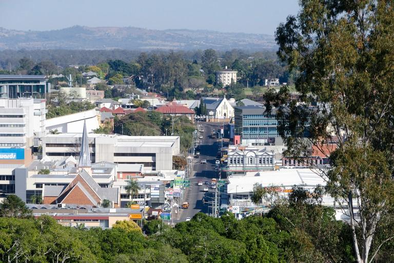 Ipswich Town centre, Limestone Street, Ipswich, Brisbane, Queensland, Australia. Image shot 2013. Exact date unknown.