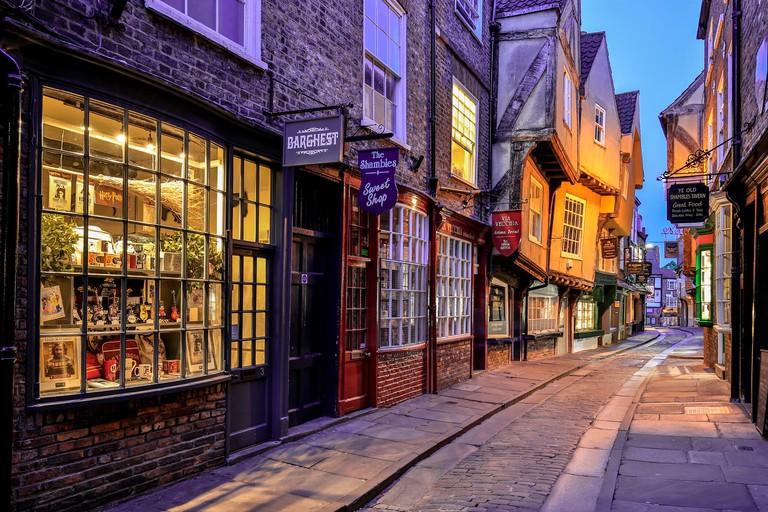 The Shambles street, York, Yorkshire, England, United Kingdom