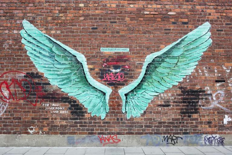 Liver Bird Mural, Liverpool