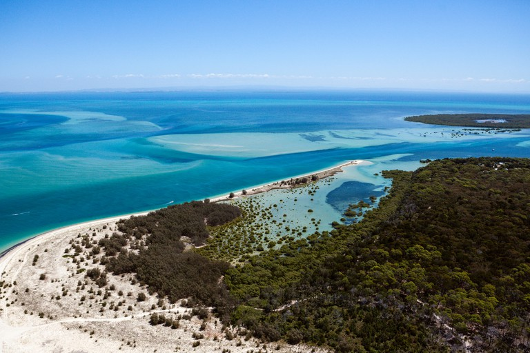 Aerial View of Moreton Island, Brisbane, Australia