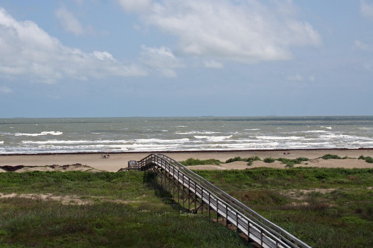 Escape to the sparkling Gulf of Mexico, visit beautiful East Beach on Galveston Island; feel the sand between your toes and revel in the lapping waves