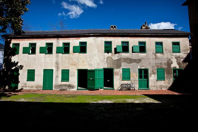 Slave quarters at Aiken Rhett House museum Charleston, SC