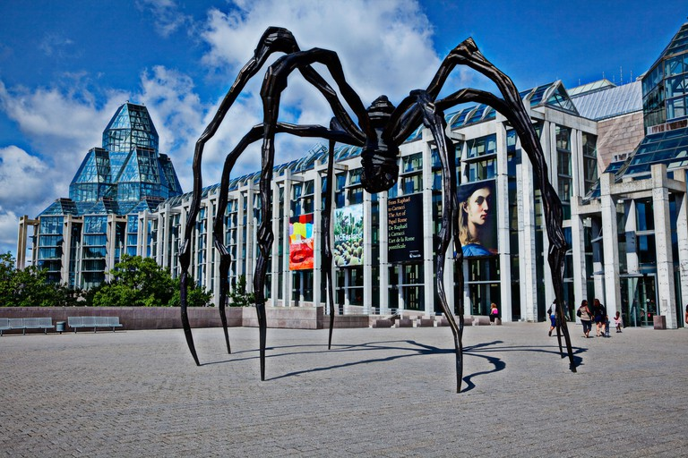 Spider sculpture outside the National Gallery of Canada Ottawa