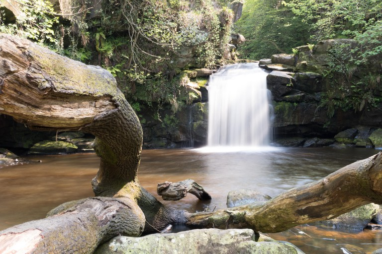 Thomason Foss waterfall near Goathland in the North York Moors in North Yorkshire