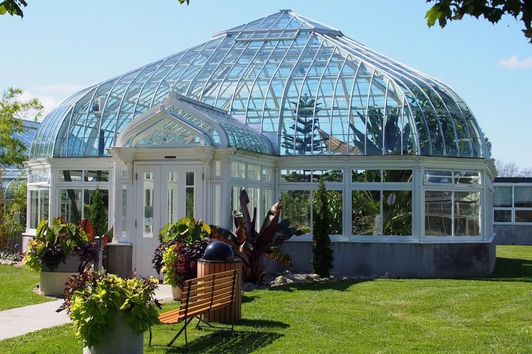 Tropical Greenhouse at the Central Experimental Farm, Ottawa, Ontario, Canada.