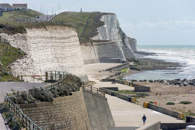 Beach promenade and Undercliff Walk, Saltdean, East Sussex, England, United Kingdom