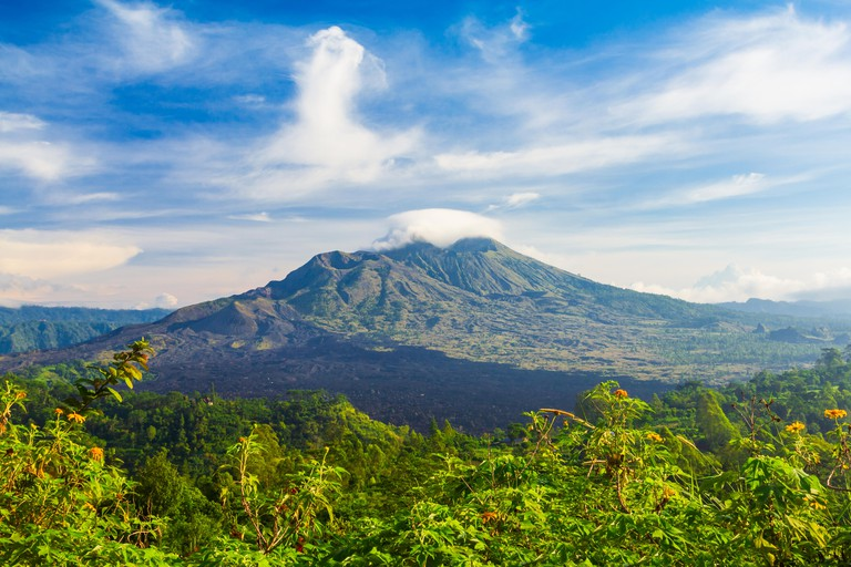 Mount Batur is an active volcano located at the center of Bali island in Indonesia
