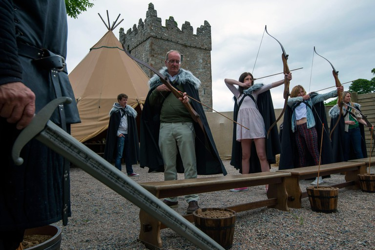 United Kingdom, Northern Ireland, County Down, Strangford, the brooding 18th century Castle Ward in County Down may be familiar to you as Winterfell, overlooking Strangford Lough, this is the house of Stark where Ned greeted King Robert on his arrival, Re