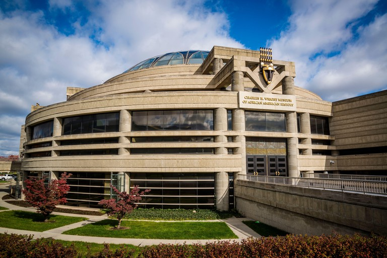 Charles H. Wright Museum of African American History, located in the Cultural Center, Detroit, Michigan, USA