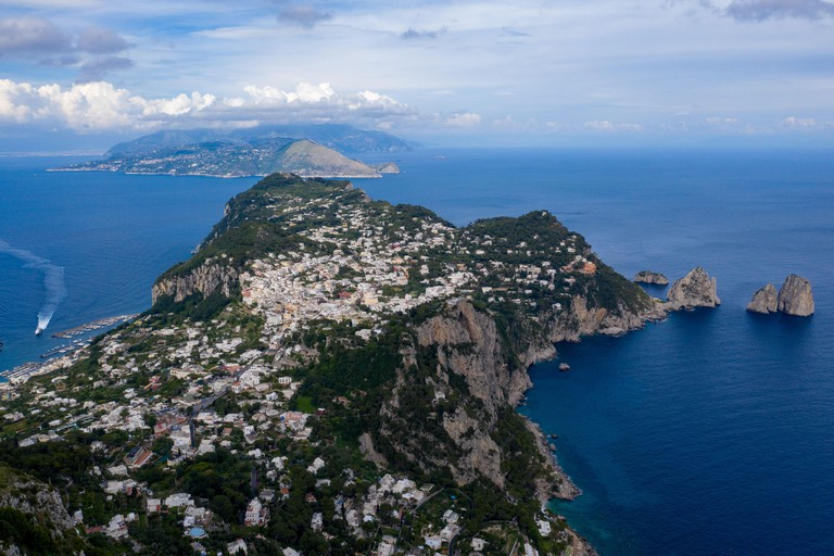 Stunning view over Capri, from Anacapri