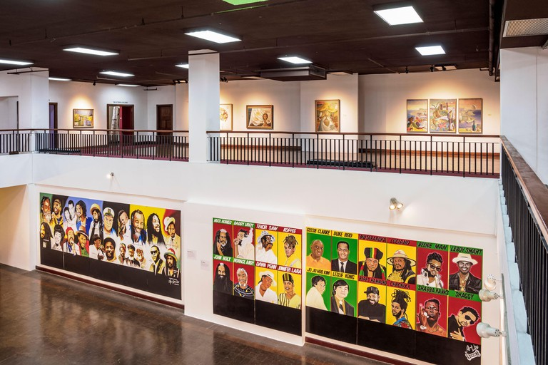 National Gallery of Jamaica, interior, Downtown, Kingston, Kingston Parish, Jamaica, West Indies, Caribbean, Central America