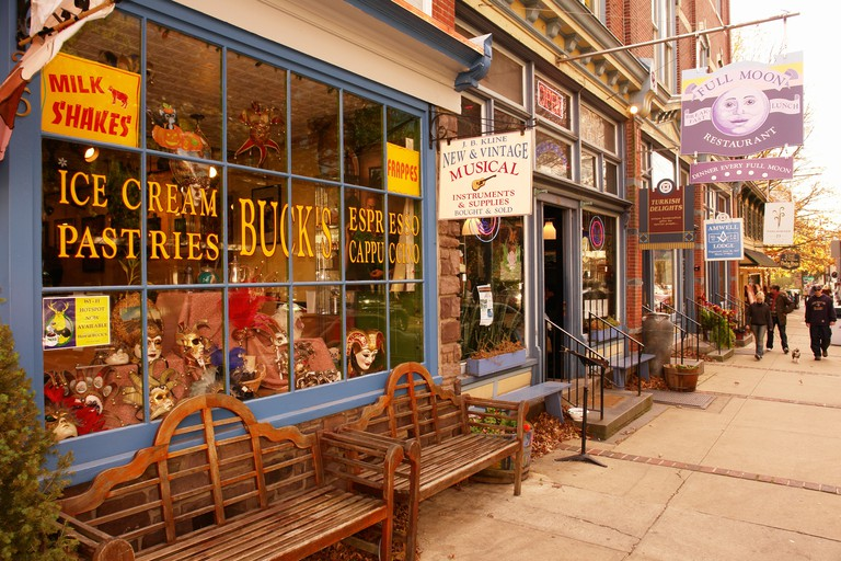 AJD53293, Lambertville, NJ, New Jersey, Historic Downtown. Image shot 2007. Exact date unknown.
