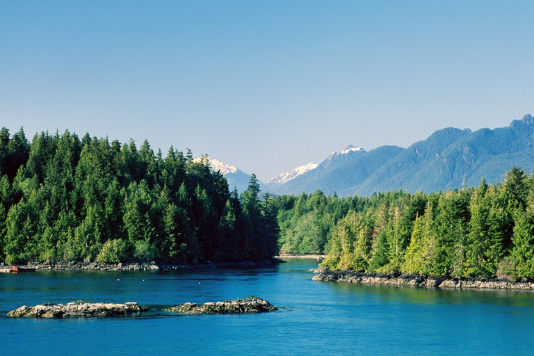 Mountains and Clayoquot Sound Tofino Vancouver Island British Columbia Canada