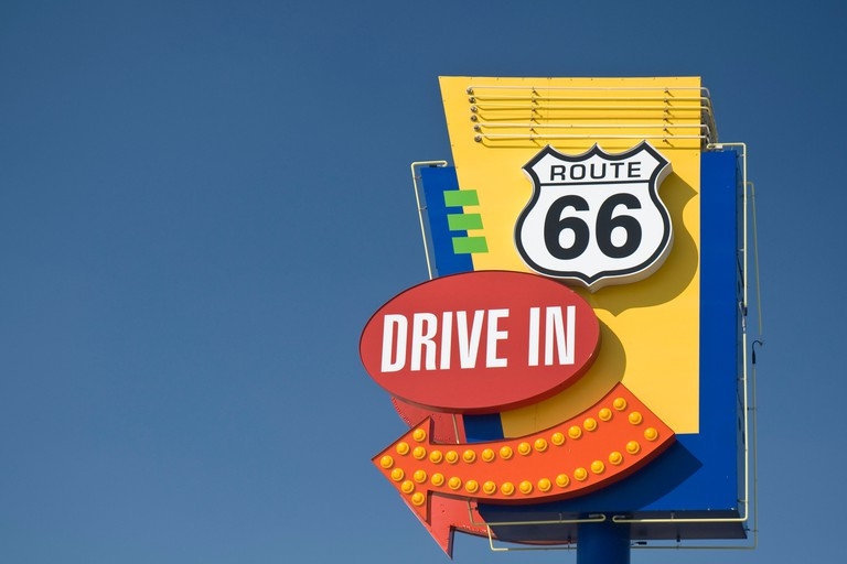 USA, Illinois, Springfield, Route 66, Drive-in Cinema. Image shot 2007. Exact date unknown.