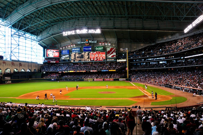 The Houston Astro Minute Maid Park. Houston, Texas, USA.