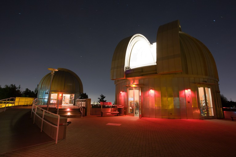 Telescope and domes at the Chabot Observatory and Science Center in Oakland, CA.