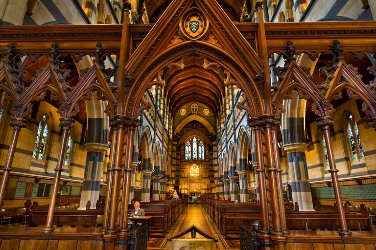Australia, Victoria, Melbourne, neo-gothic St Paul's Anglican Cathedral