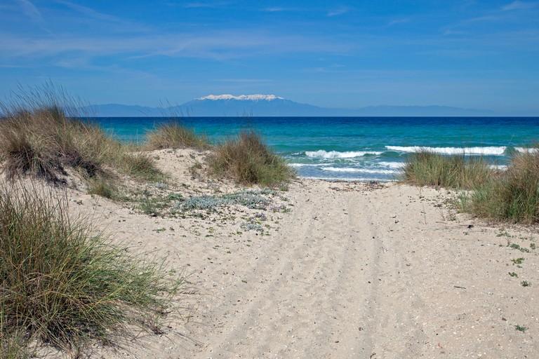Sani beach,Kassandra Peninsula,  Halkidiki,Central Macedonia, Greece,Aegean
