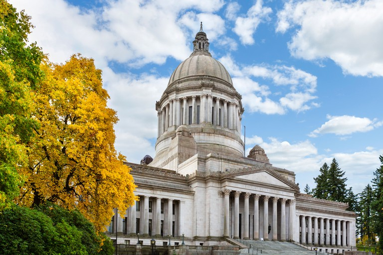 The Washington State Capitol, Olympia, Washington, USA
