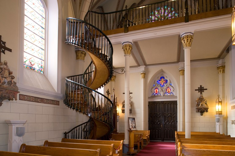 Santa Fe: Loretto chapel - 'Miraculous Staircase'. Image shot 2005. Exact date unknown.
